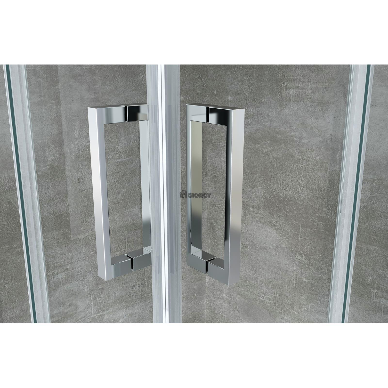 Box cabina doccia bagno angolare scorrevole rettangolare 70 80 90 100 120 140 ebay - Porta scorrevole per bagno ...