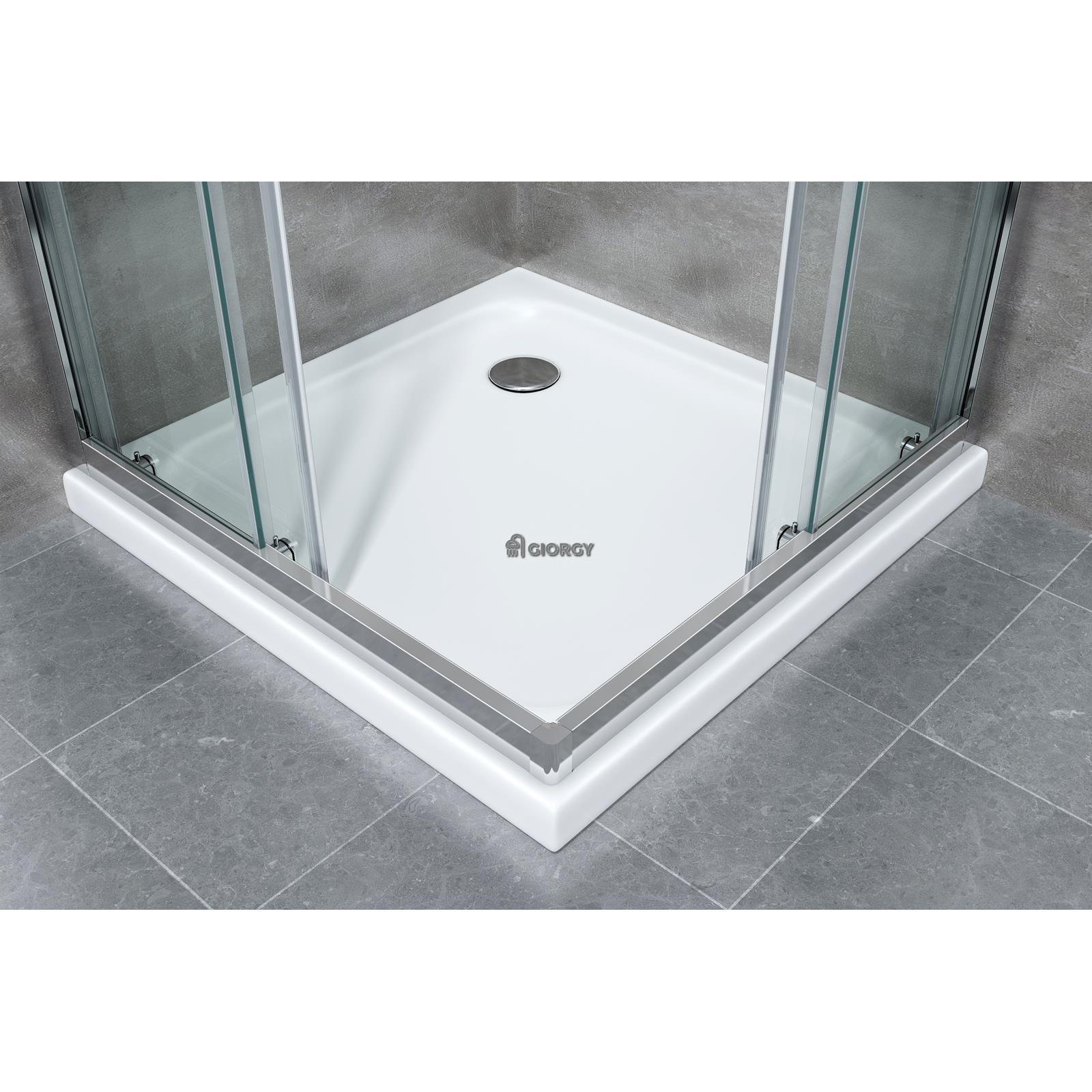 Caja cabina ducha ba o angular corredero rectangular 70 80 for Instalacion cabina ducha