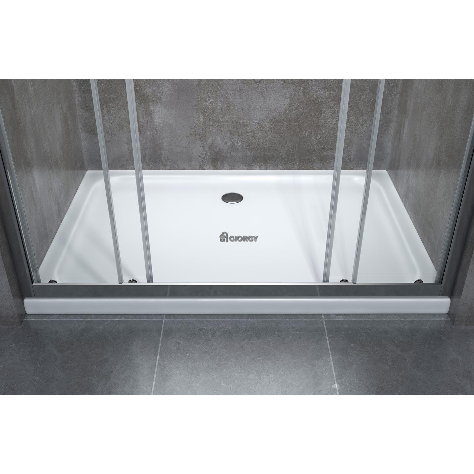 Porta doccia scorrevole per nicchia a 4 ante in cristallo - Porta cabina doccia ...