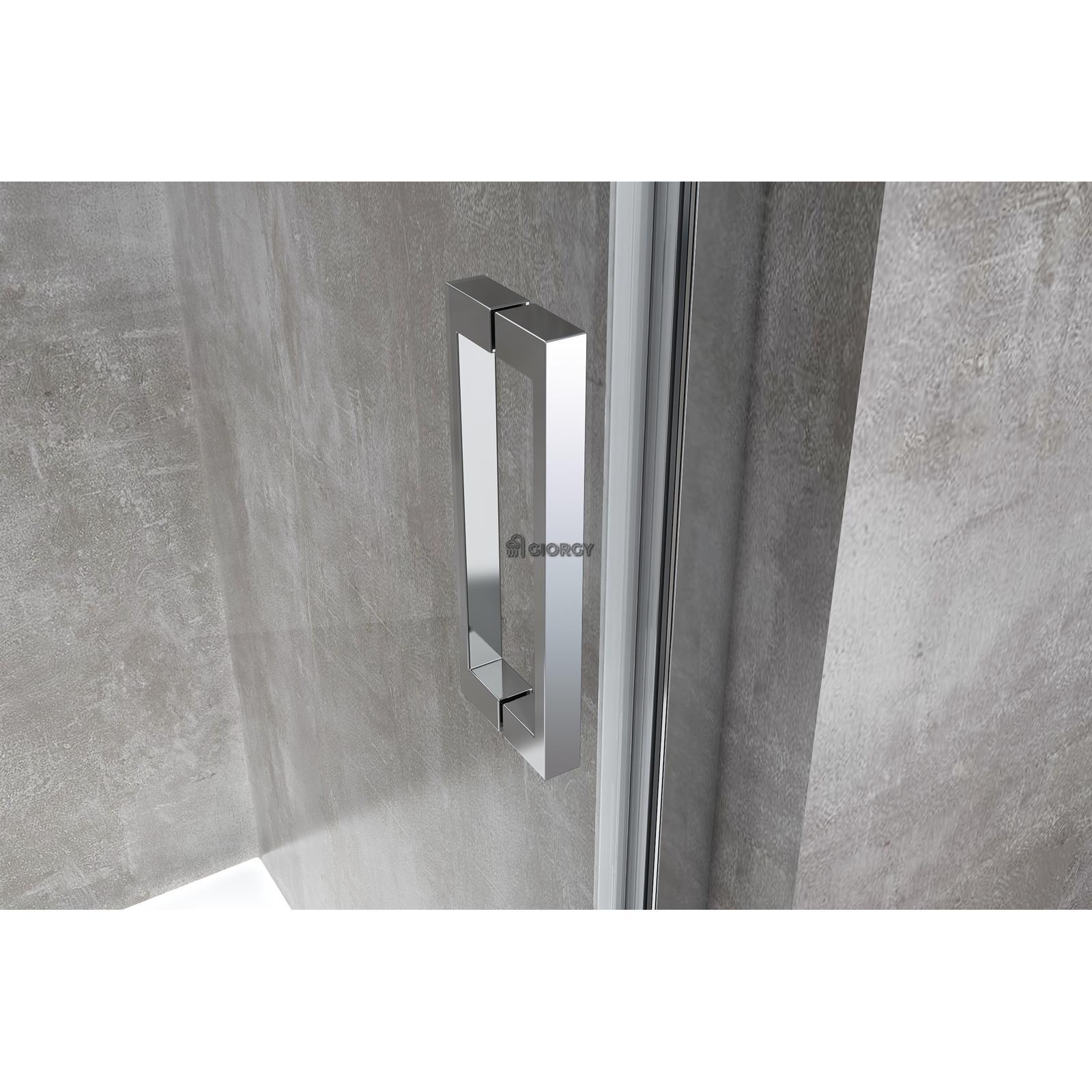 Porte douche glissant niche 110 111 112 113 114 115 h 190 for Porte de douche 110