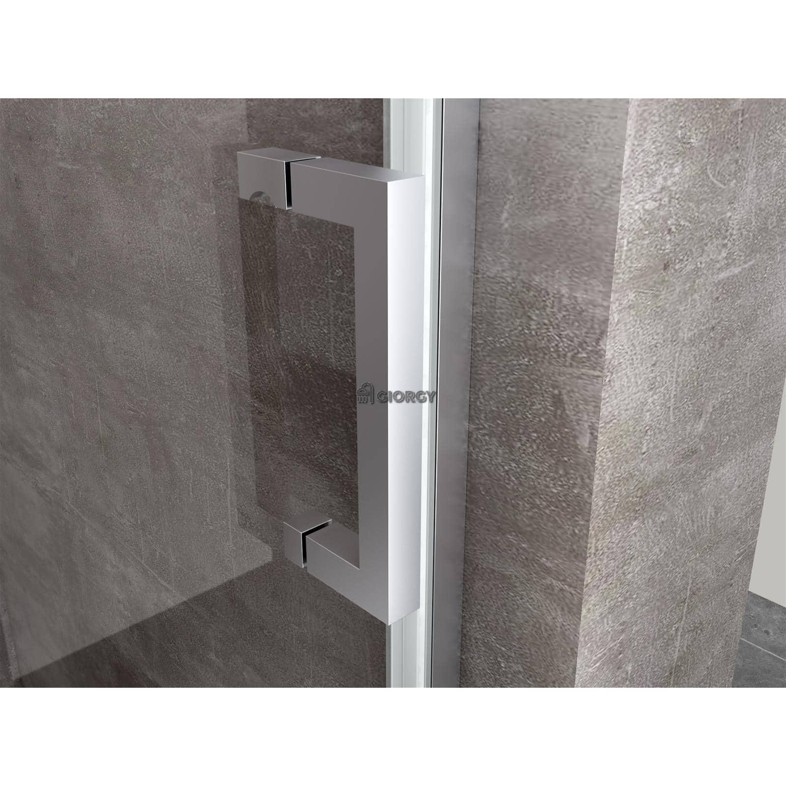 Porta doccia anta scorrevole nicchia vetro 8 mm 100 110 120 140 150 160 170 180 ebay - Porta scorrevole per doccia ...