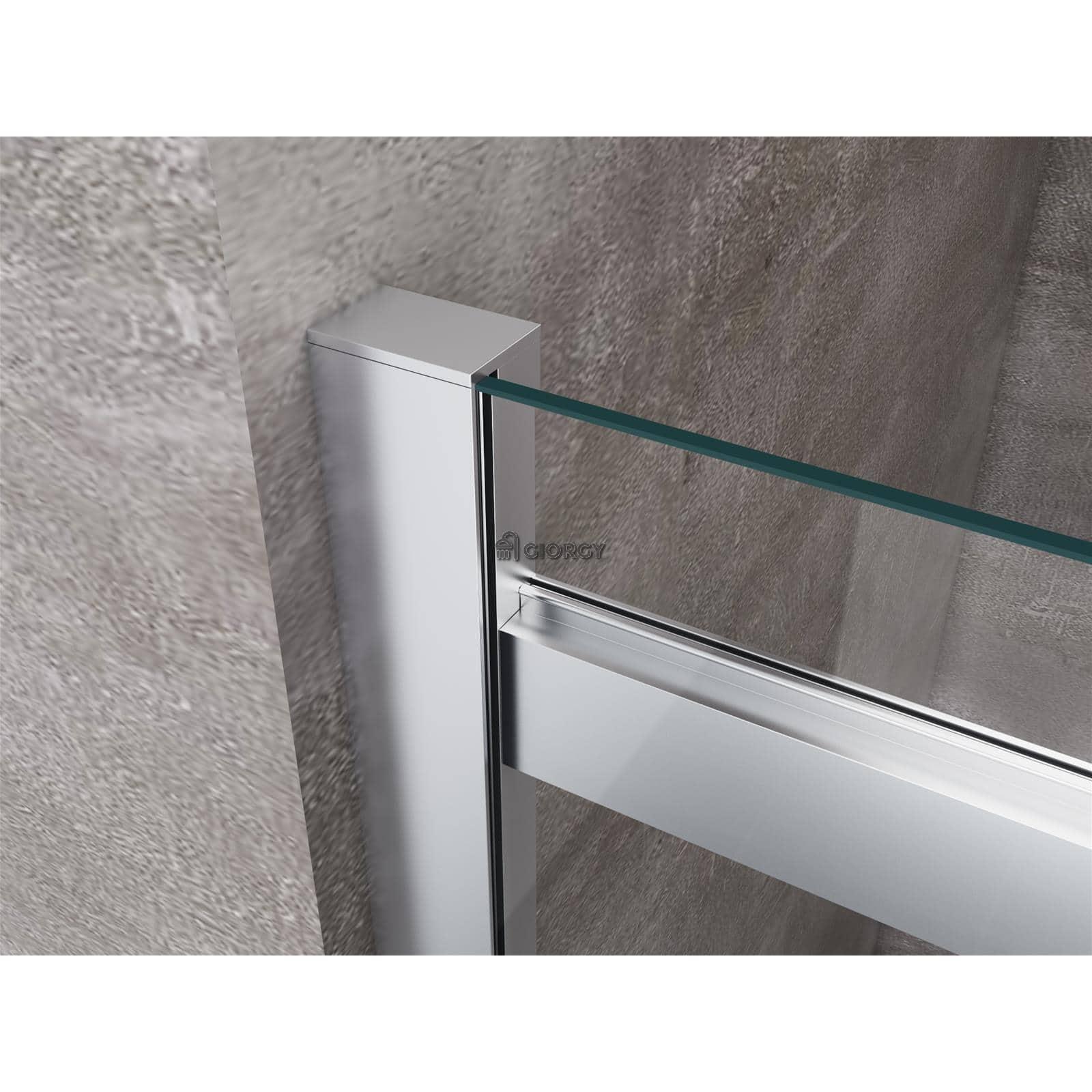 Porta doccia anta scorrevole nicchia cristallo 8 mm 100 120 140 160 170 bagno ebay - Porta scorrevole per doccia ...