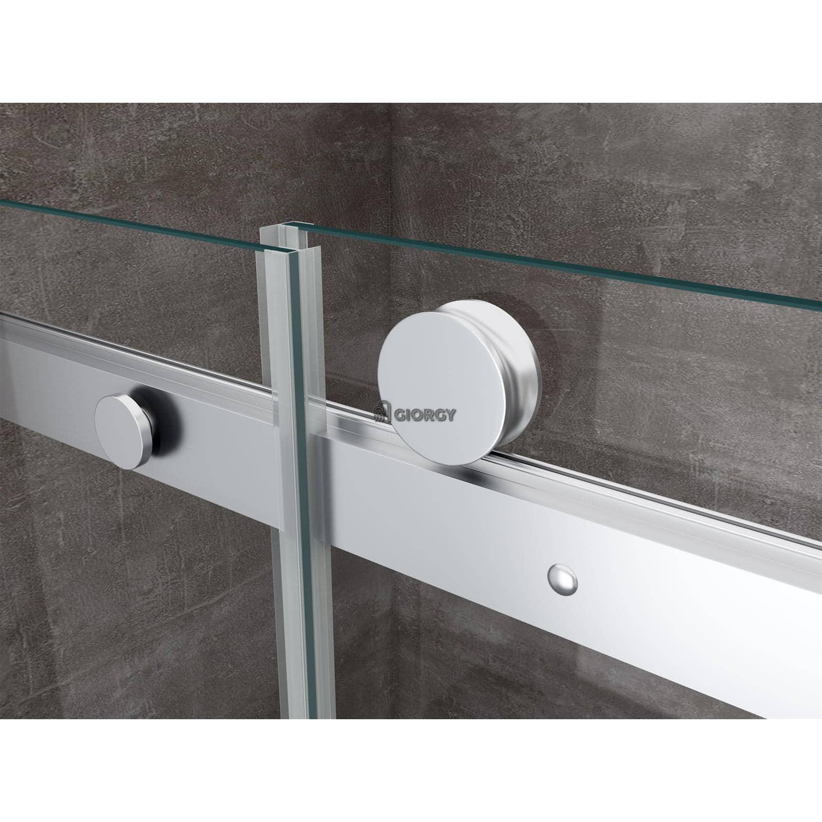 Porta doccia anta scorrevole nicchia cristallo 8 mm 100 - Chiusura per porta scorrevole ...
