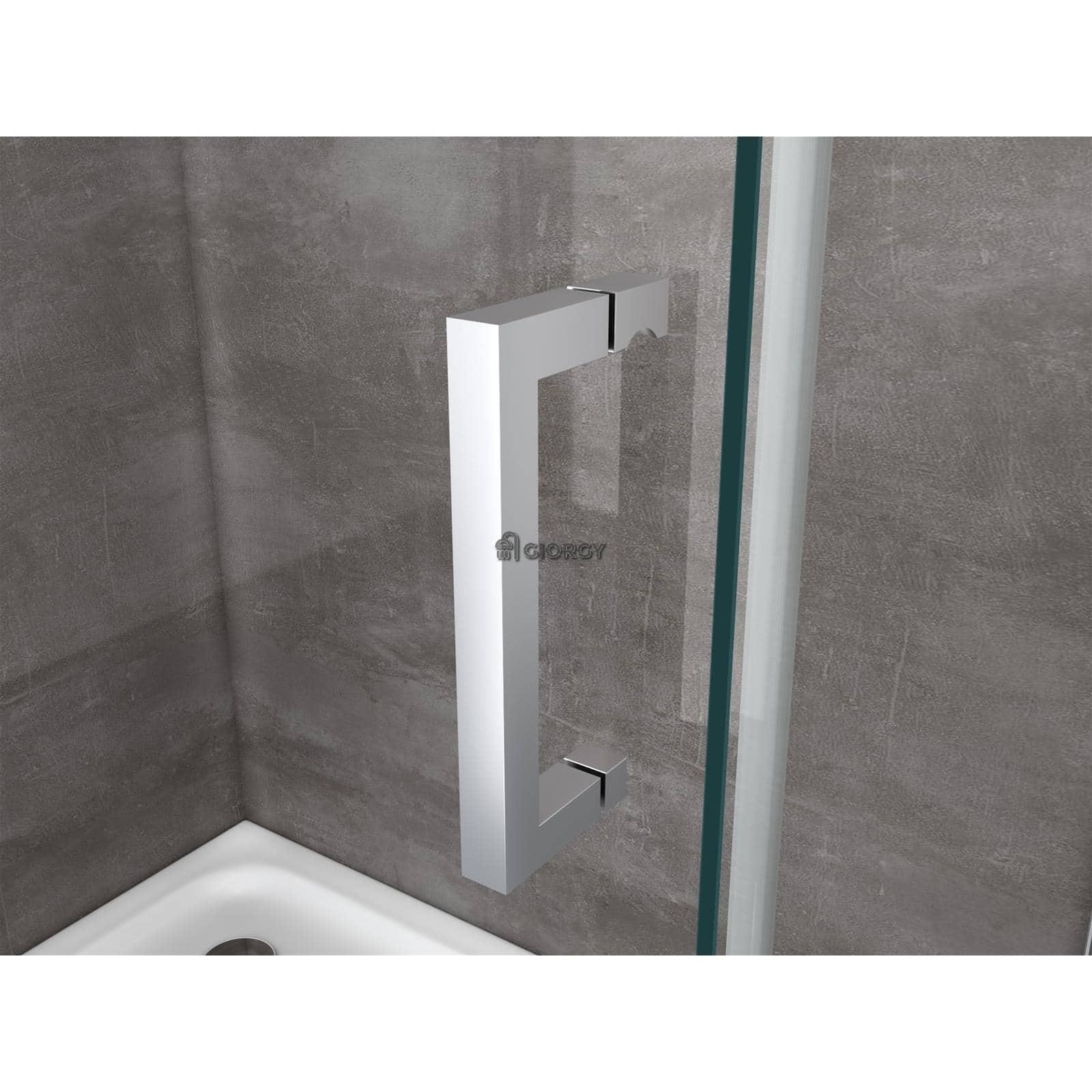 Box doccia 8 mm cristallo fisso porta anta scorrevole cabina bagno anticalcare - Porta scorrevole per bagno ...