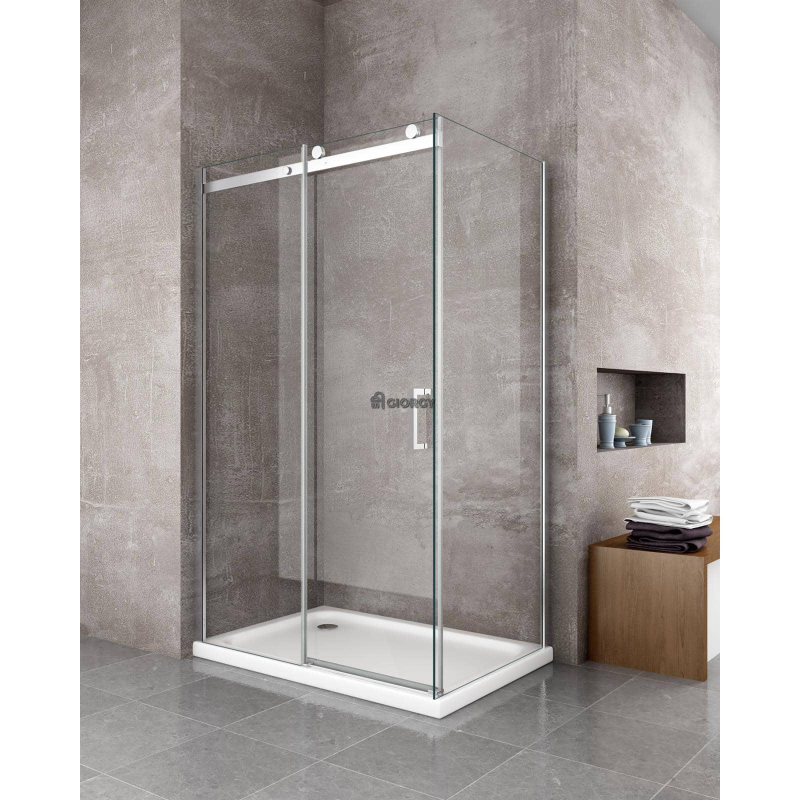 Box doccia 8 mm cristallo fisso porta anta scorrevole - Porta cabina doccia ...