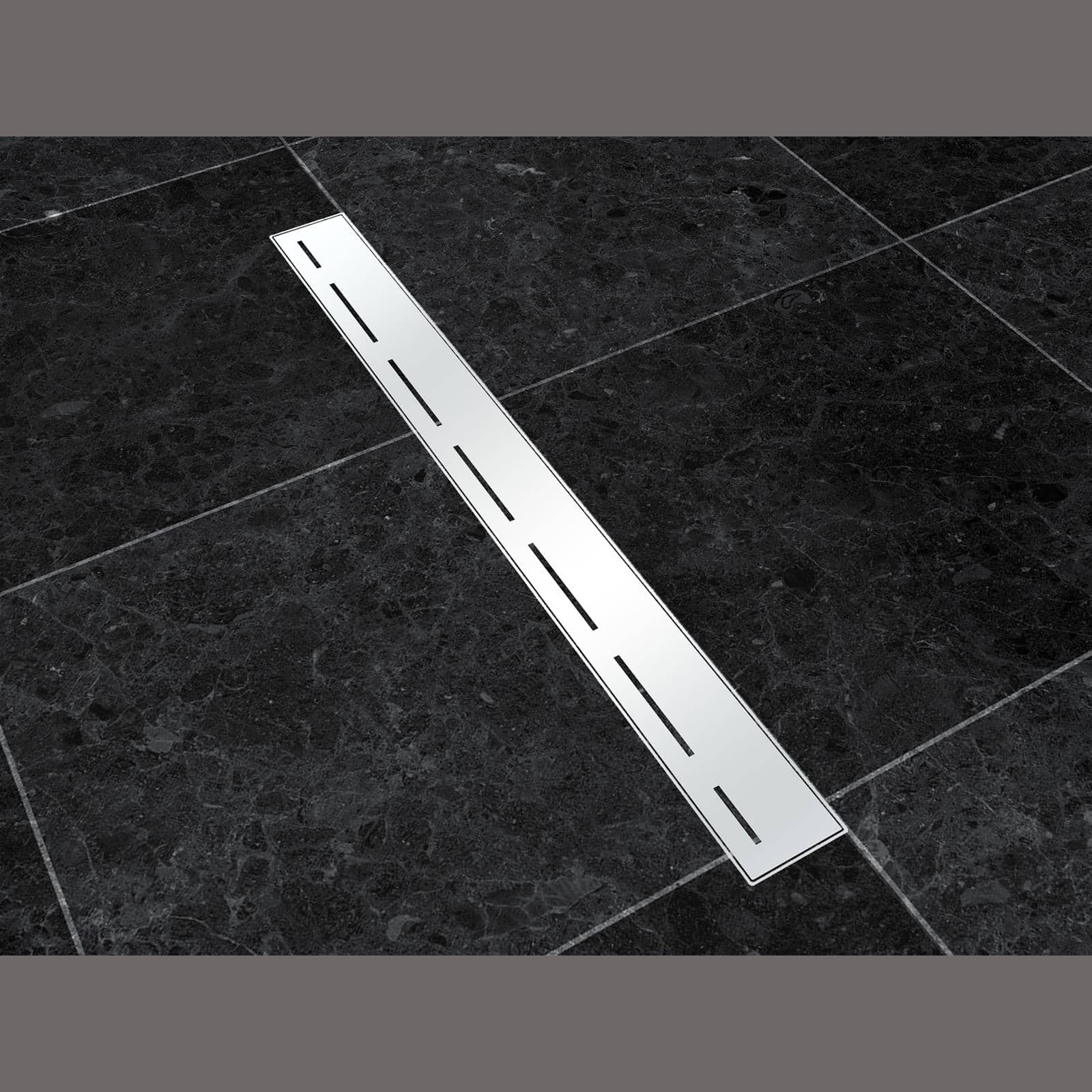 Duct shower tray to floor stainless steel