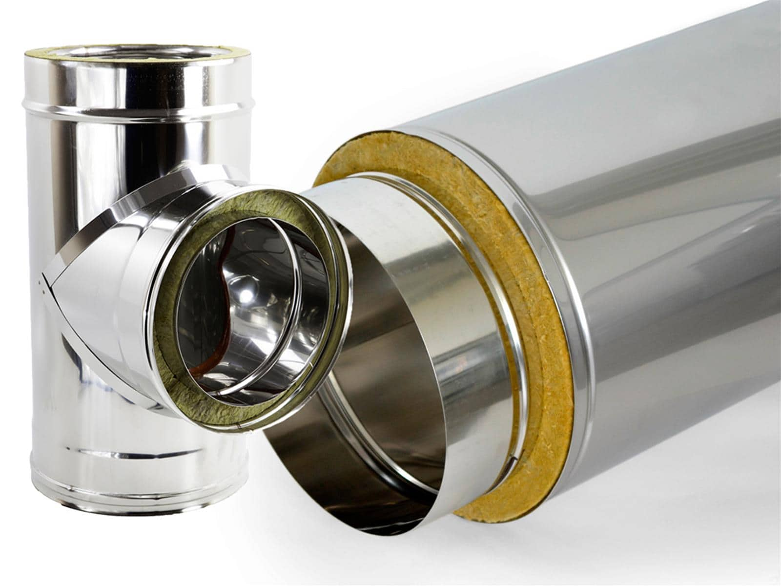 Tubo modulo acciaio inox aisi 304 canna fumaria legna pellet stufa camino ebay - Stufa a pellet canna fumaria ...