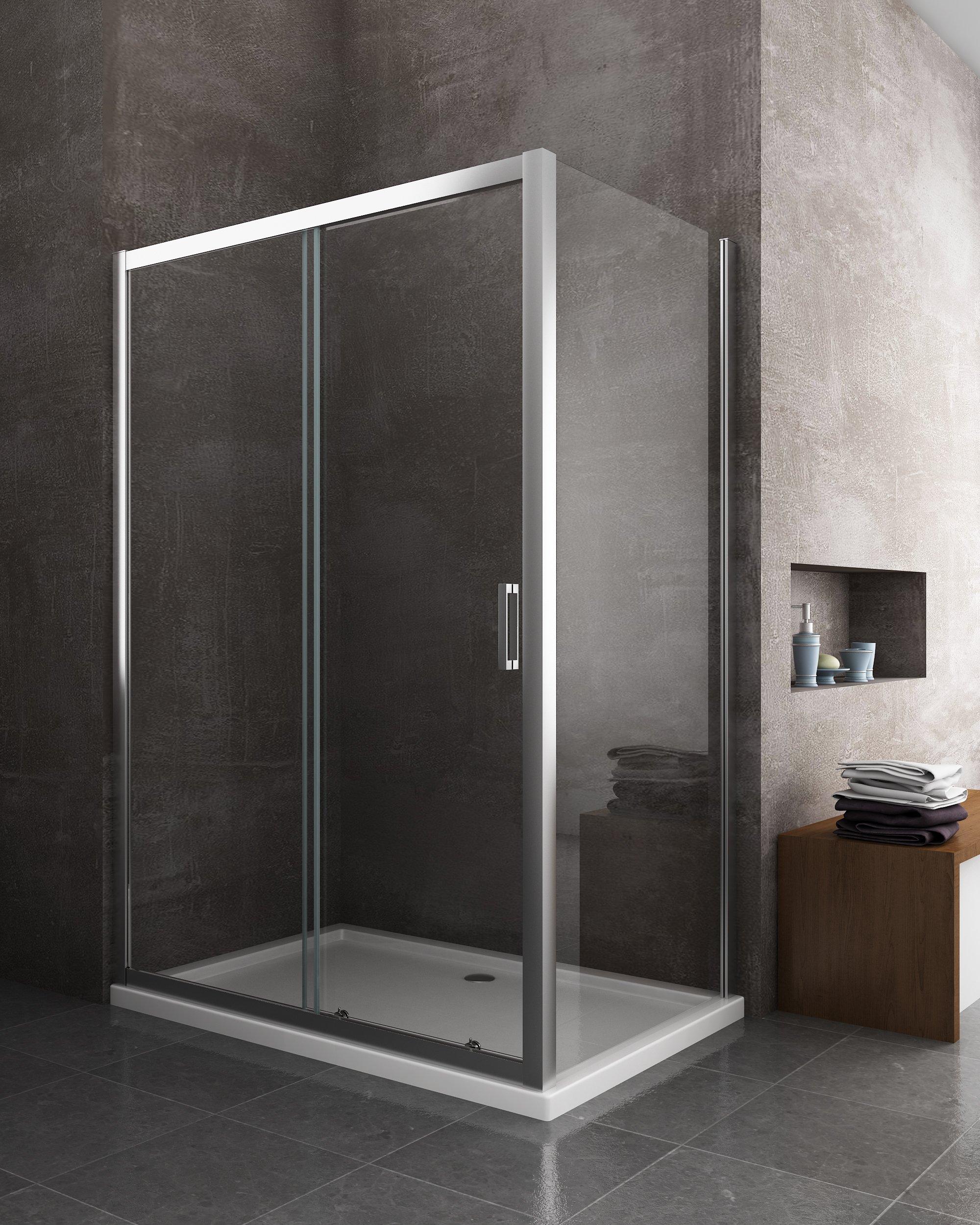 Box cabina doccia 2 lati 1 fisso e uno scorrevole ebay - Doccia senza porta ...