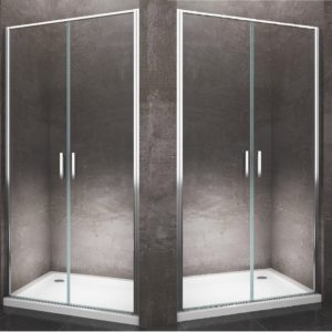 Battente saloon Porta per nicchia 6 mm cromo