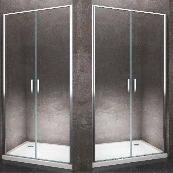 Battente saloon porta per nicchia 6 mm cromo - Porta cabina doccia ...