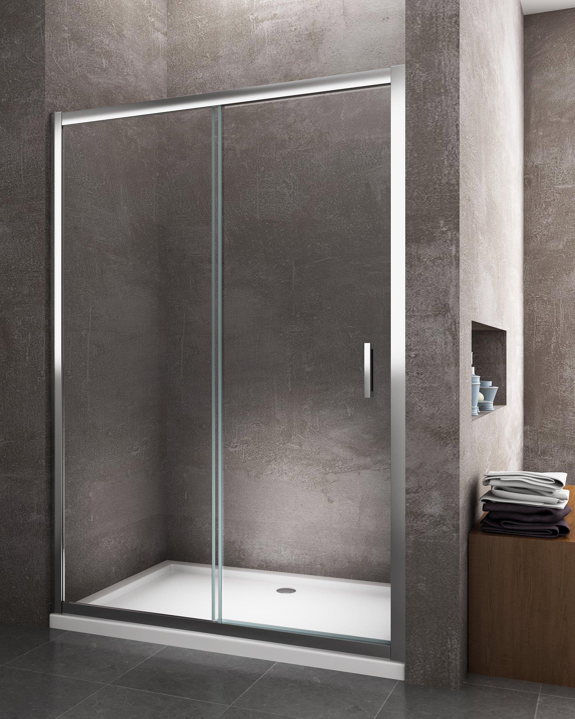 Nicchia - Porta doccia scorrevole reversibile cromo 6 mm - GiorgyshopGiorgyshop