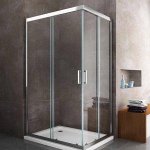porta box doccia rettangolare porta angolare a due ante scorrevole