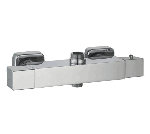 Miscelatore doccia termostatico con uscita superiore