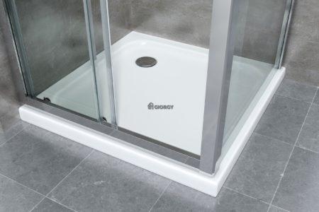 piatto box doccia bianco in vetroresina arredo bagno