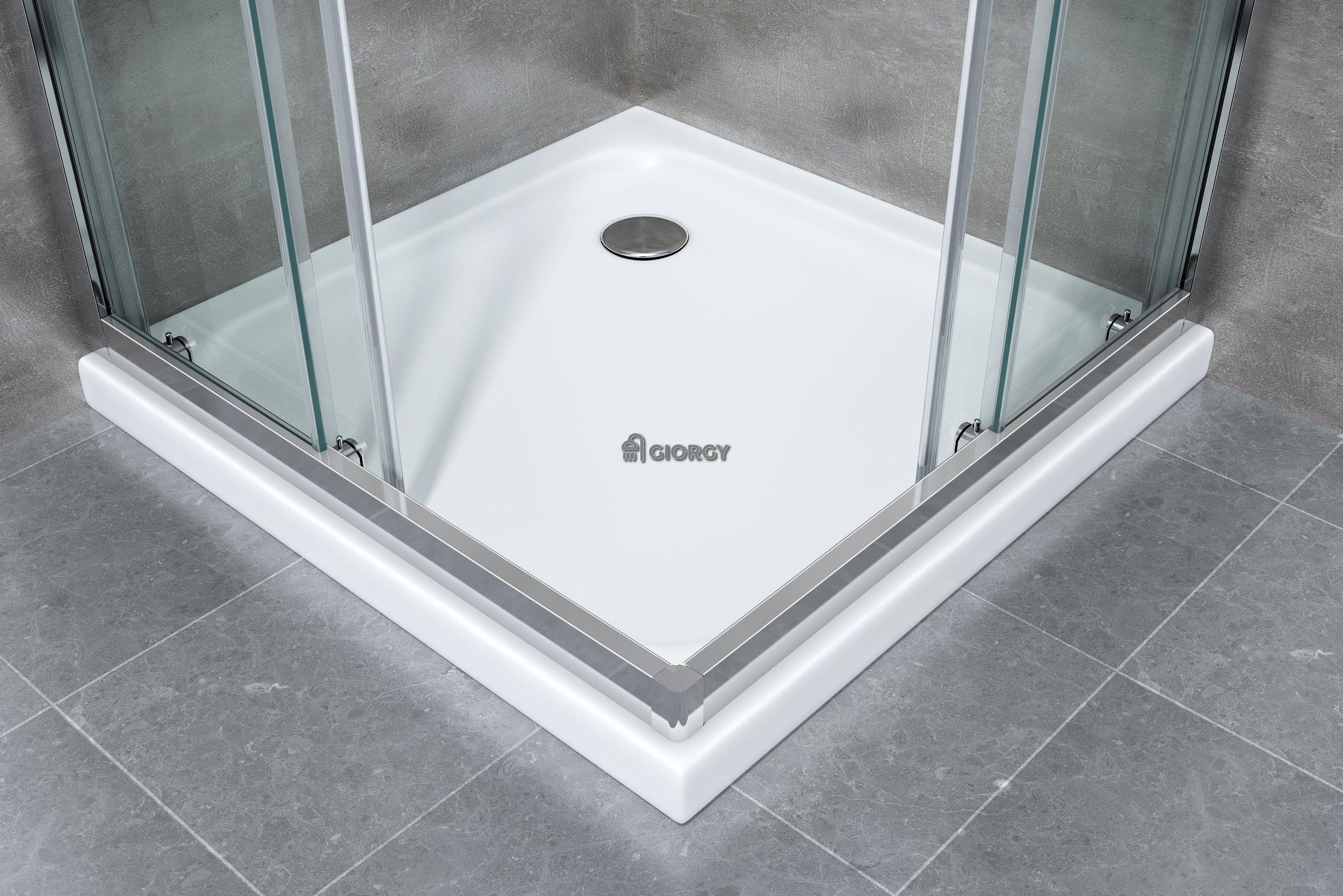 Box cabina doccia scorrevole rettangolare mm cromo