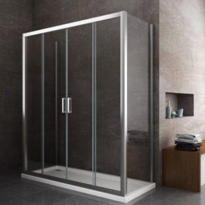 Box doccia rettangolare per sostituzione vasca doccia