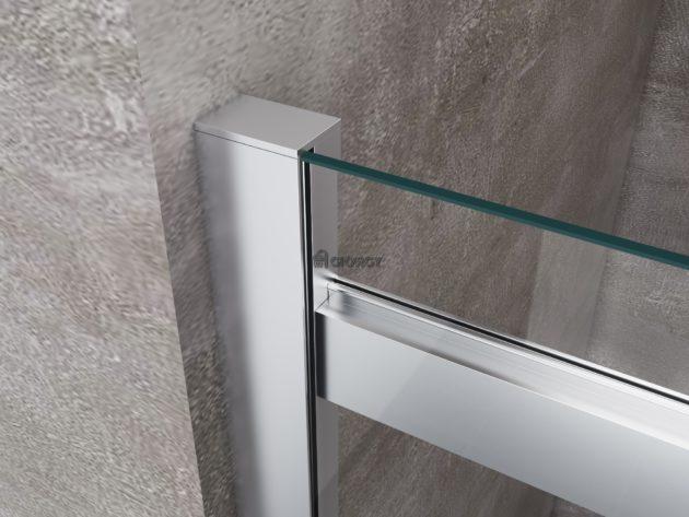 dettaglio profilo alluminio cromato box doccia