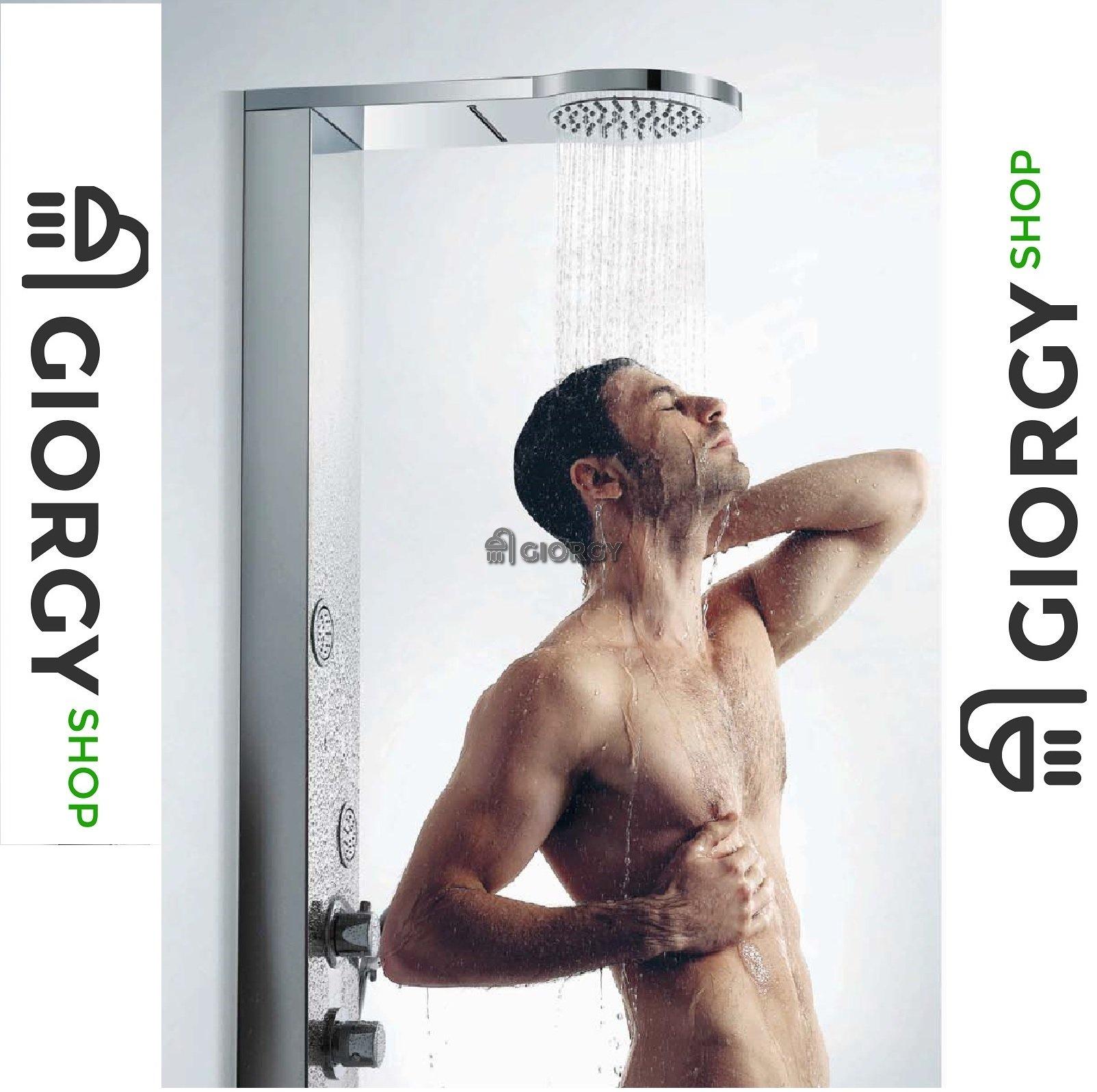 colonna doccia idromassaggio acciaio giorgyshop
