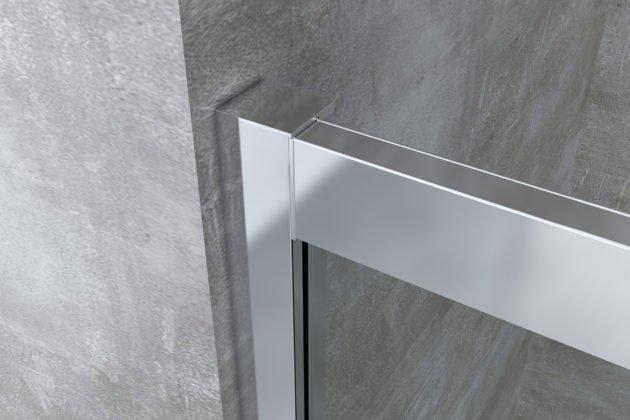 dettaglio profilo alluminio cromato box doccia arredo bagno