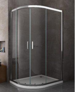 box cabina doccia 80x120 semicircolare asimmetrico