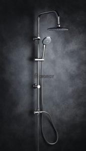 colonna doccia a ponte soffione cervicale rotondo doccino