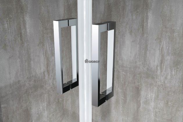 maniglia box doccia in alluminio cromato arredo bagno