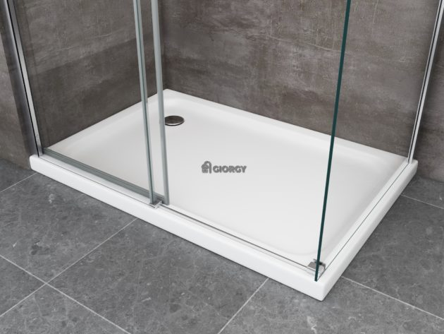 piatto box doccia rettangolare bianco vetroresina