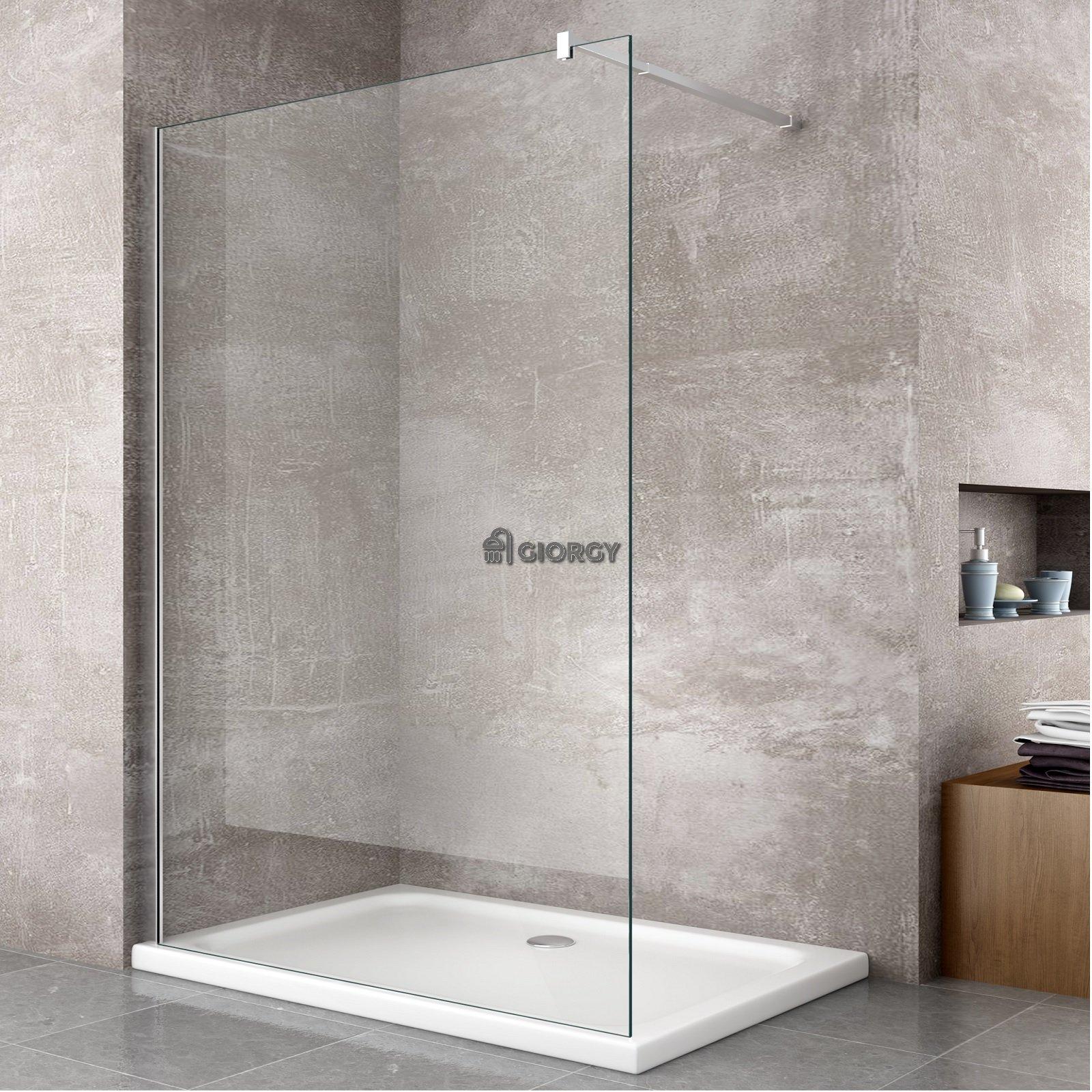 Parete doccia fissa walk in 8 mm reversibile easy clean - Box doccia vetrocemento ...