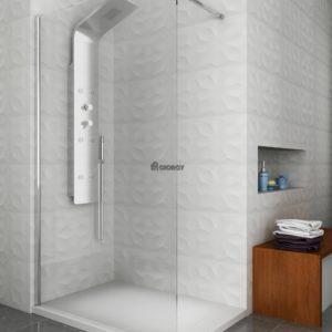 Colonna doccia idromassaggio a tre vie in alluminio verniciato