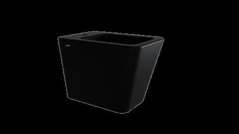 sanitari vaso bidet ceramica nera a terra filo muro arredo bagno