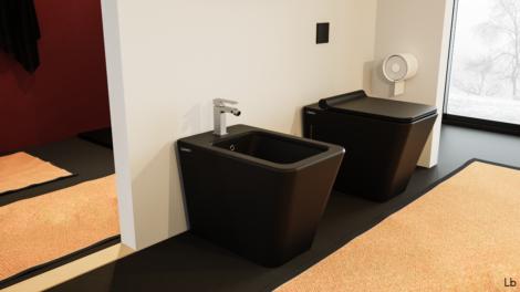 sanitari bidet wc a terra filo muro arredo bagno