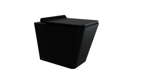 sanitari bagno vaso wc ceramica nera