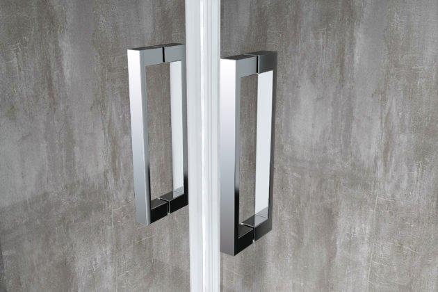 dettaglio profilo maniglia alluminio cromato box doccia