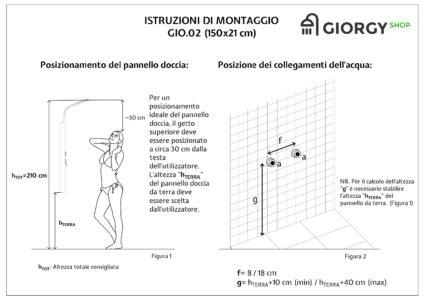 manuale installazione pannello doccia idromassaggio soffione a cascata