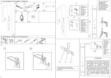 manuale installazione pannello colonna doccia idromassaggio