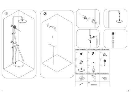 manuale installazione doccia a ponte soffione e doccino arredo bagno