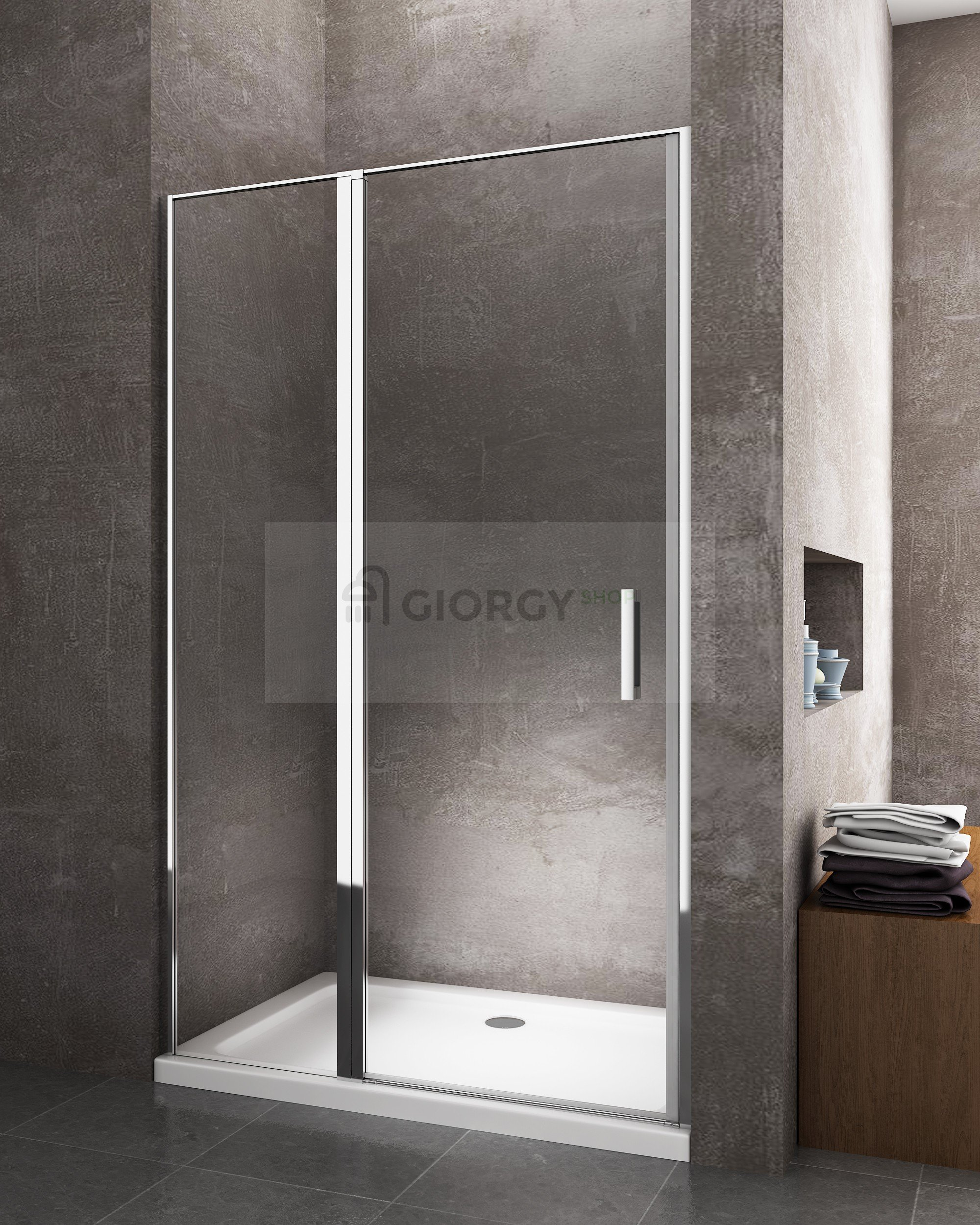 porta box doccia porta a battente per installazione in nicchia arredo bagno