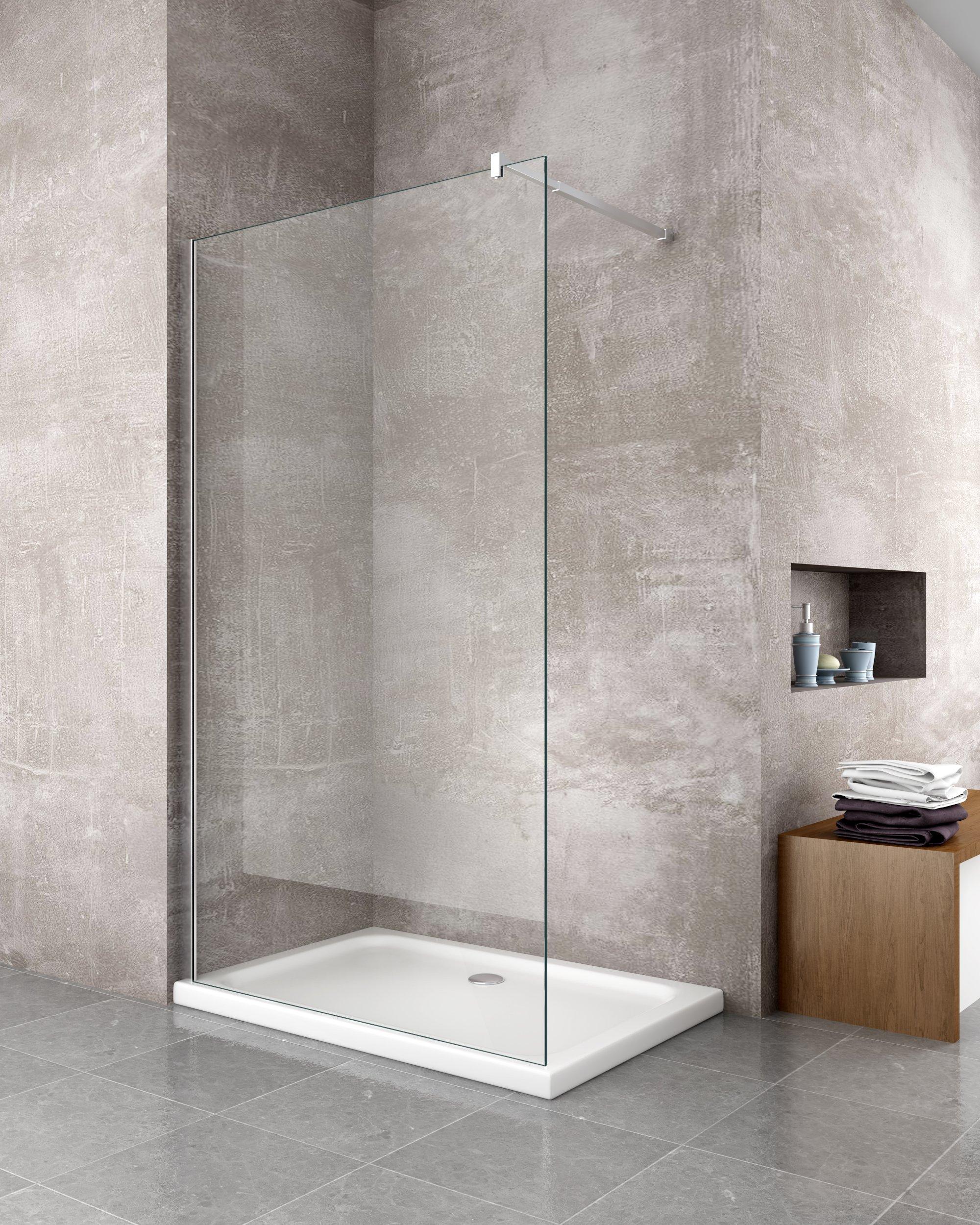 box doccia cristallo cromato alluminio temperato rettangolare porta scorrevole