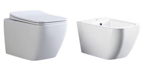 sanitari bagno wc bidet ceramica bianca a terra filo muro