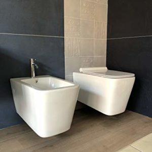 sanitari wc bidet sospesi filo muro ceramica bianca arredo bagno
