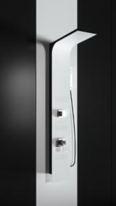 Colonna doccia idromassaggio in alluminio verniciato a polvere