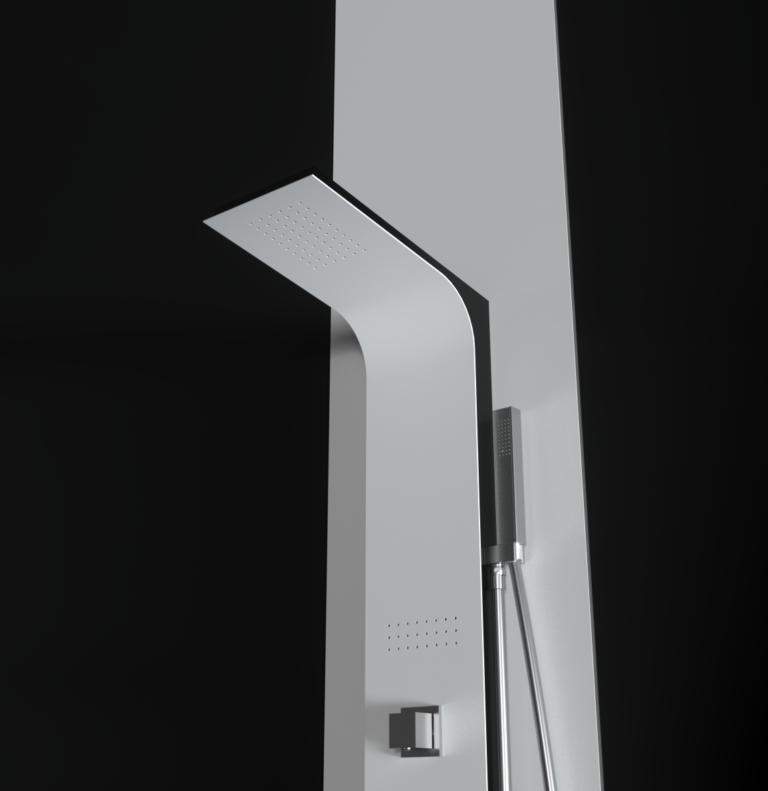 Colonna doccia idromassaggio con soffione e doccino