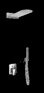 kit doccia soffione tondo denoiser e doccino in acciaio inox