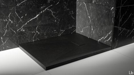 Piatto doccia in vetroresina colore nero