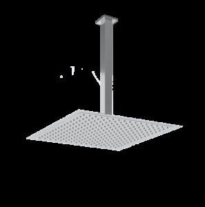 Soffione doccia quadrato acciaio inox
